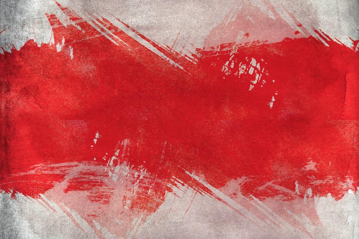 Rot weiß Pinsel