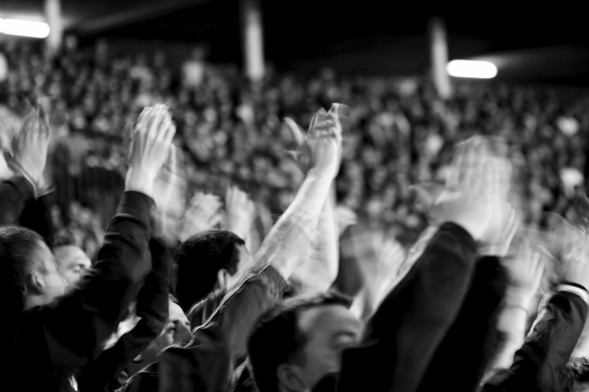 Jubelnde Fans