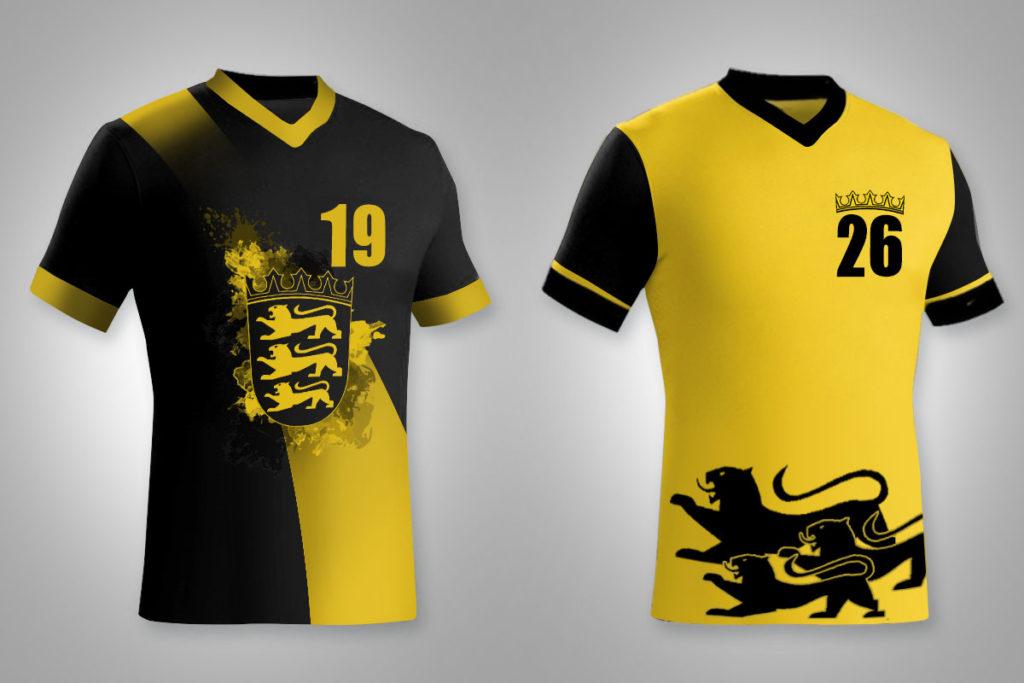 Wurden vertikalpass zugespielt: Alternative Designs für das Away-Trikot des neuen Schwaben-Teams.